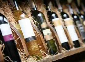 Des bouteilles de vin